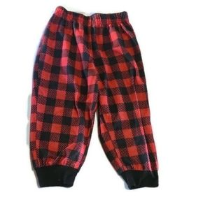 🍭🦖Cuddle duds 2t pj bottoms  red flannel